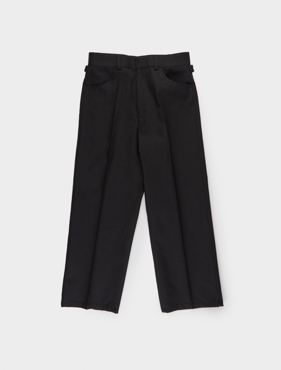 130-JSPR301625-WR201000-001 JIL SANDER High Waisted Wide Leg Trouser in Black