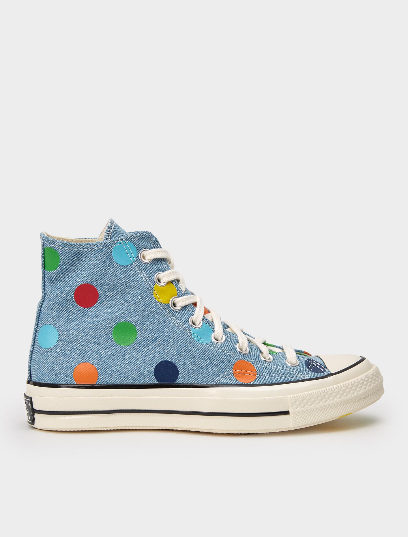 recuerdos Salida Equipo de juegos  Converse x GOLF le FLEUR* Polka Dot Chuck 70 High Sneaker in Blue | Voo  Store Berlin | Worldwide Shipping