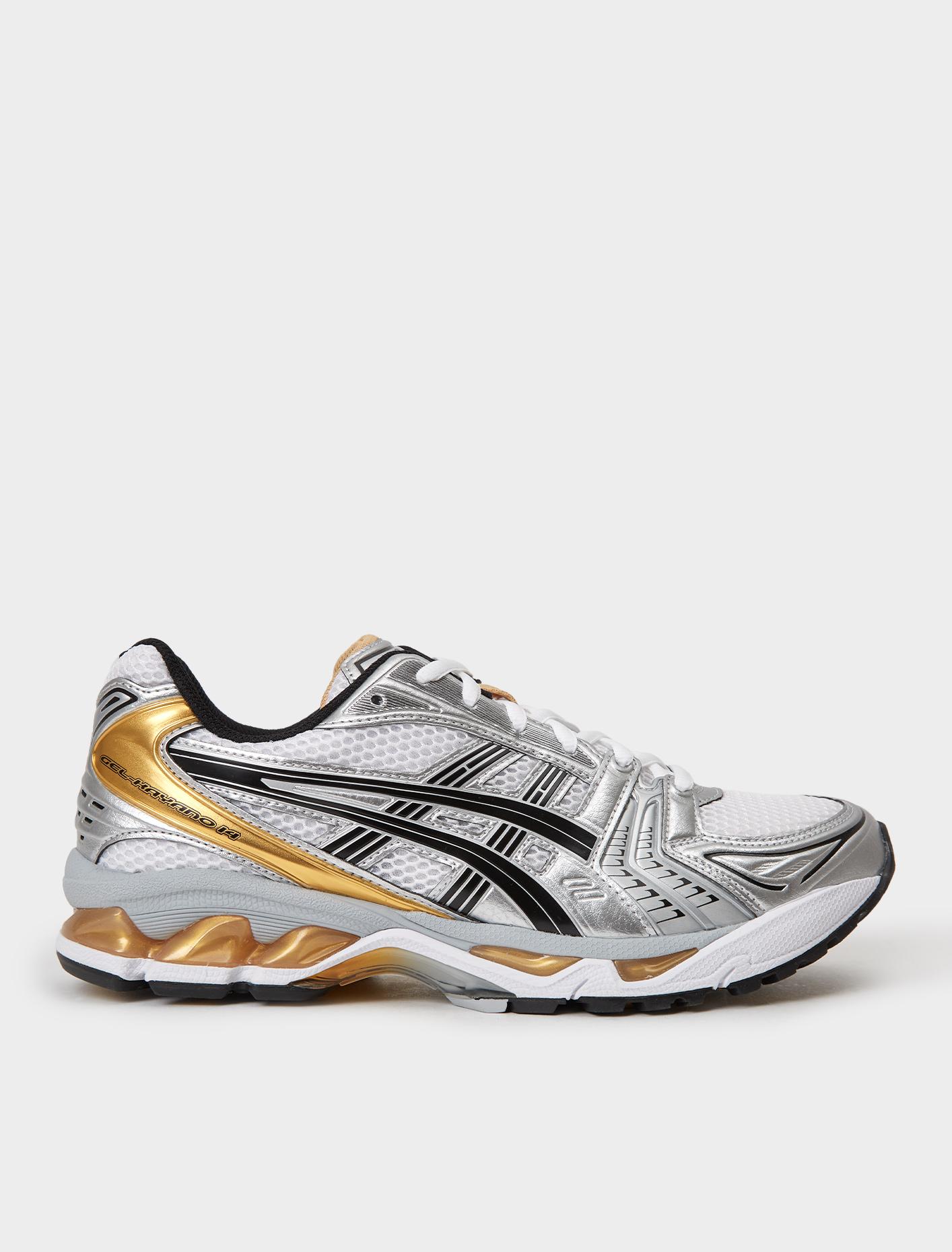 por otra parte, Correa Correspondiente  Asics GEL-KAYANO 14 Sneaker in White/Pure Gold | Voo Store Berlin |  Worldwide Shipping