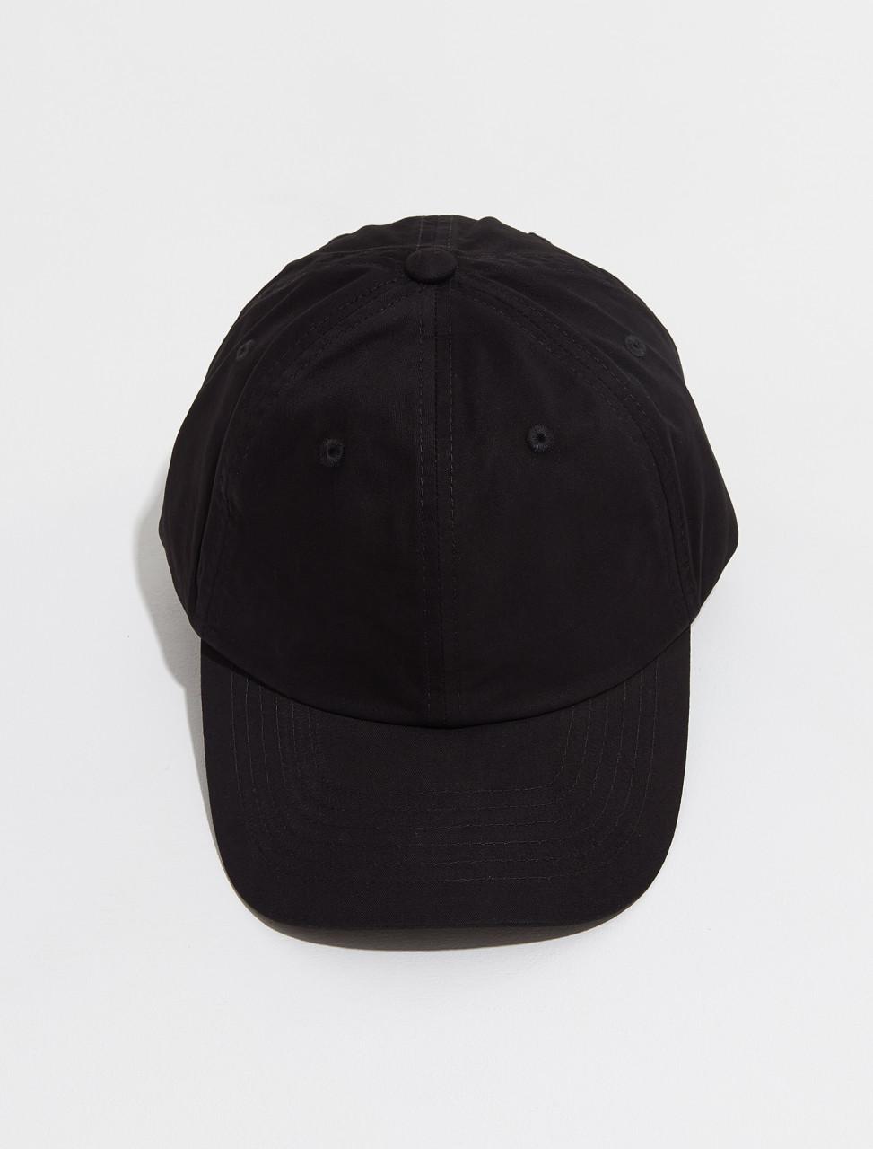 C40169 900 FA UX HATS000105 ACNE STUDIOS CUNOV LIGHT TWILL FACE CAP IN BLACK