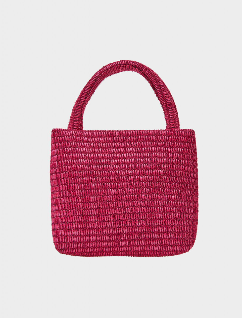 Front view of Paloma Wool Entenza Bag in Dark Fuchsia