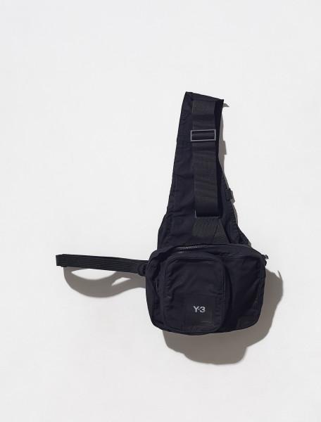 HA6526_BLACK ADIDAS Y 3 LOGO VEST BAG IN BLACK