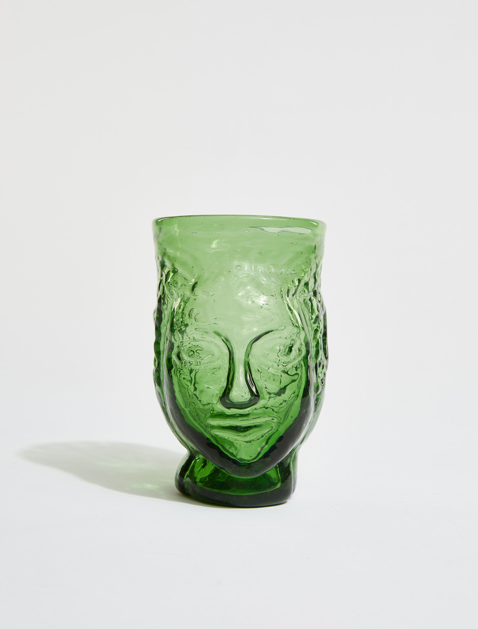 87DGREEN LA SOUFFLERIE TETE GLASS IN GREEN