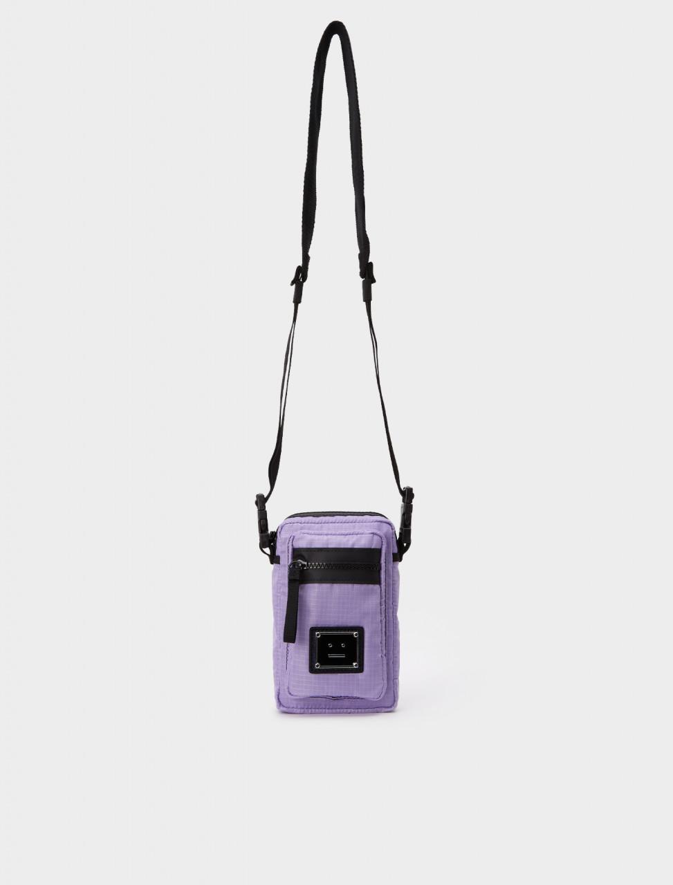 C10073-ADI ACNE STUDIOS LOGO PLAQUE POCKET BAG LILAC PURPLE