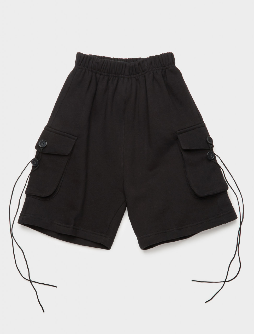 328-YOU01P001-3 YOUTHS IN BALACLAVA SHORTS IN BLACK