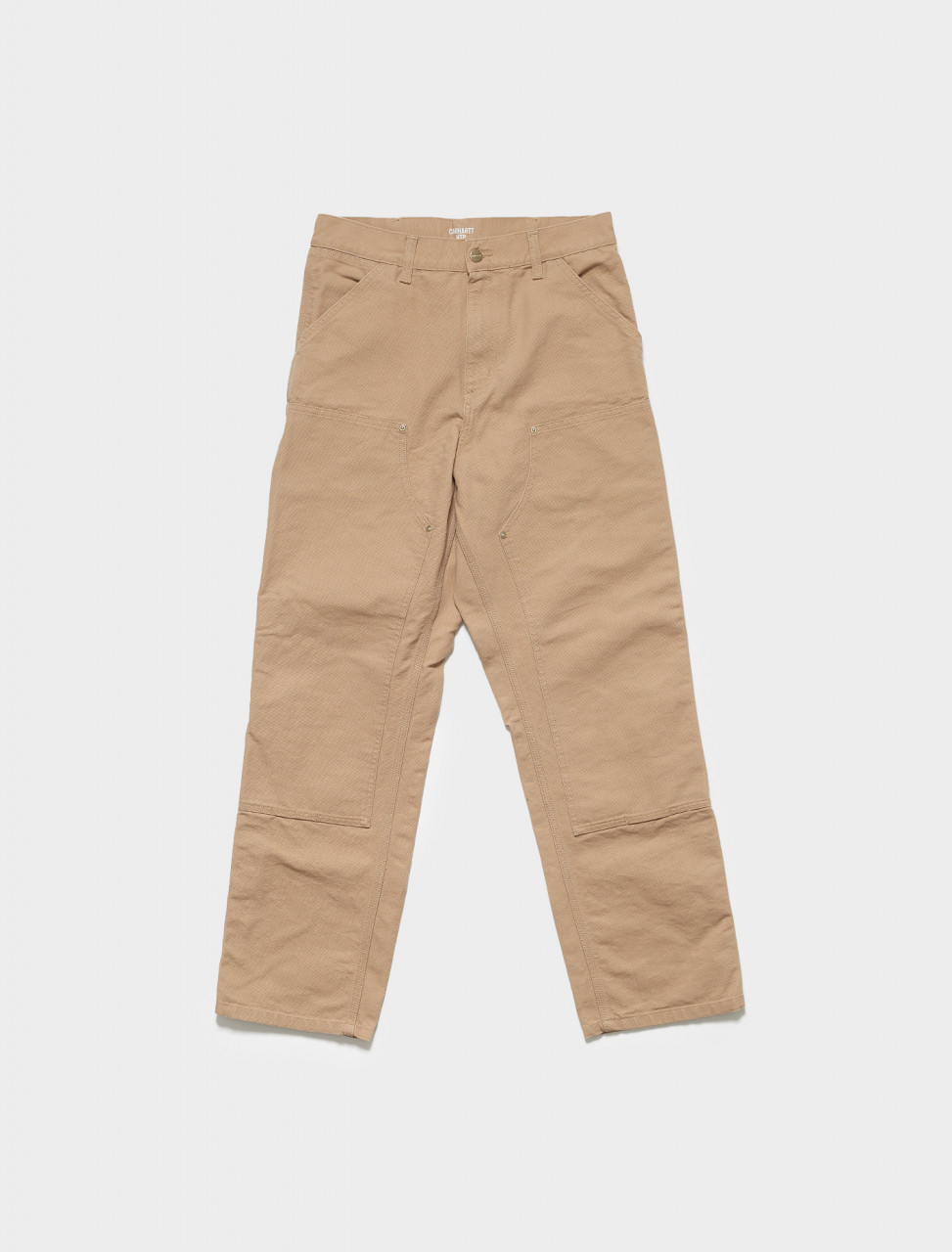 I029196-07E CARHARTT WIP DOUBLE KNEE PANTS IN DUSTY H BROWN