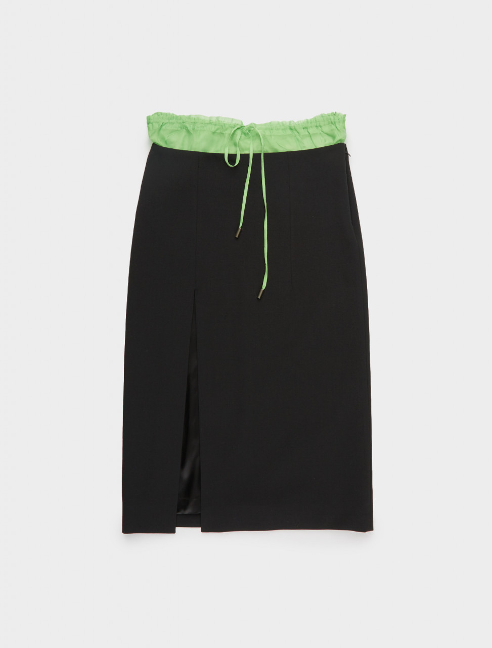 340-CAPS20SL06 SUPRIYA LELE BOXER SKIRT BLACK LIME