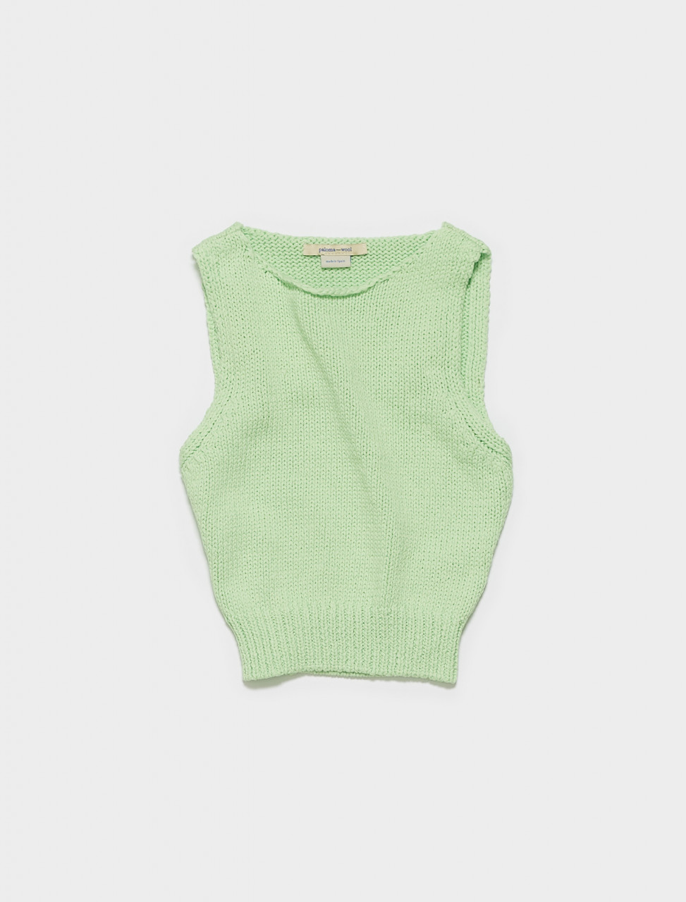 PKM008-504 PALOMA WOOL JIGGLYPUFF TANK TOP IN GREEN FLUO