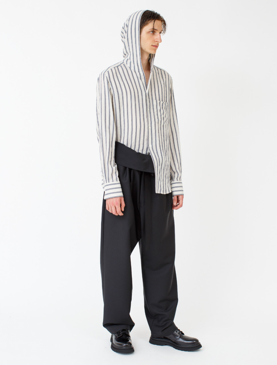 Belted Pleated Trouser