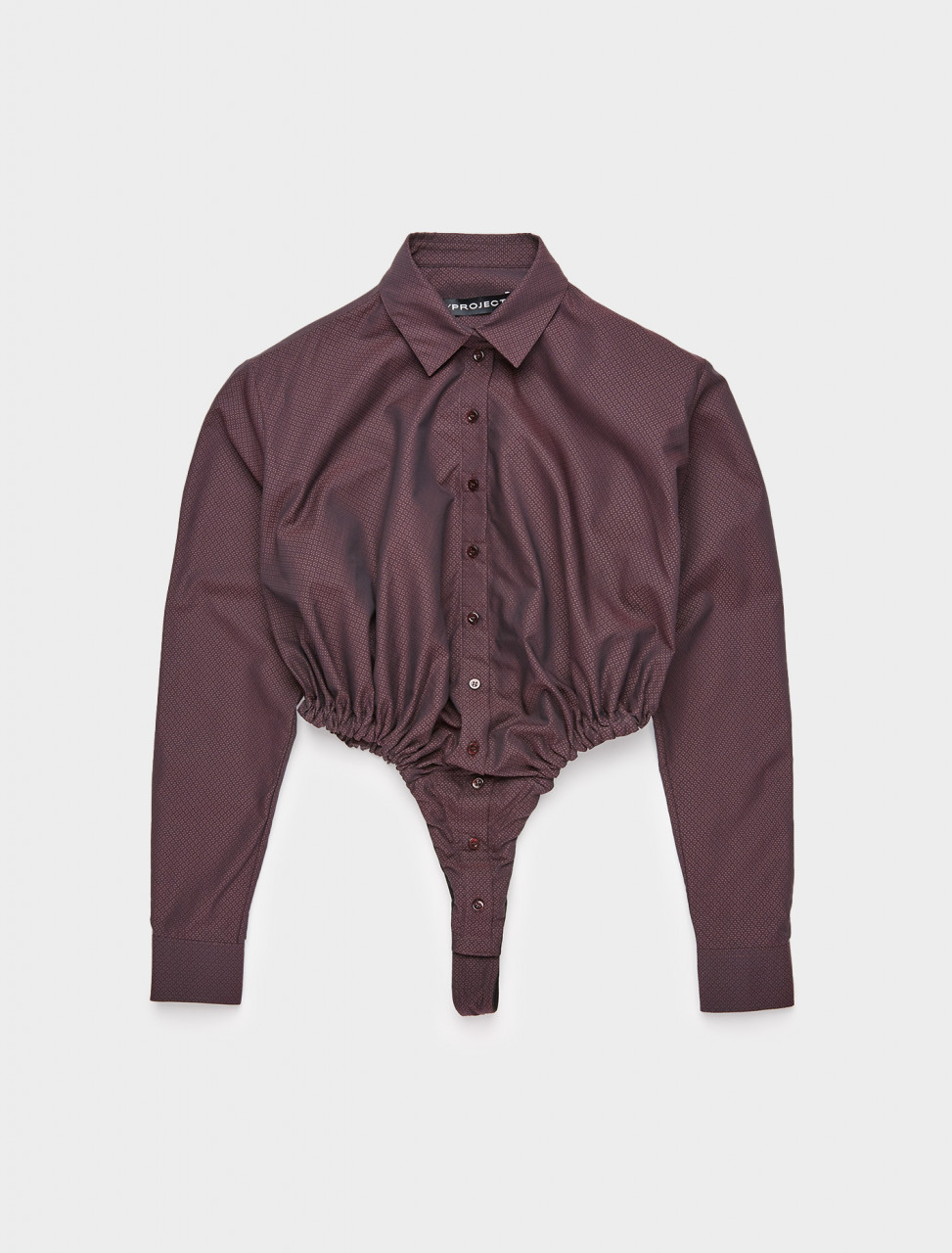 213-WBODY11-S19-F253 Y PROJECT ROUCHED BODY SHIRT