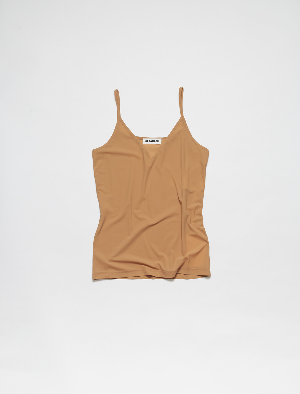 JSPS705046-WS477108-265 JIL SANDER TANK TOP IN MEDIUM BEIGE