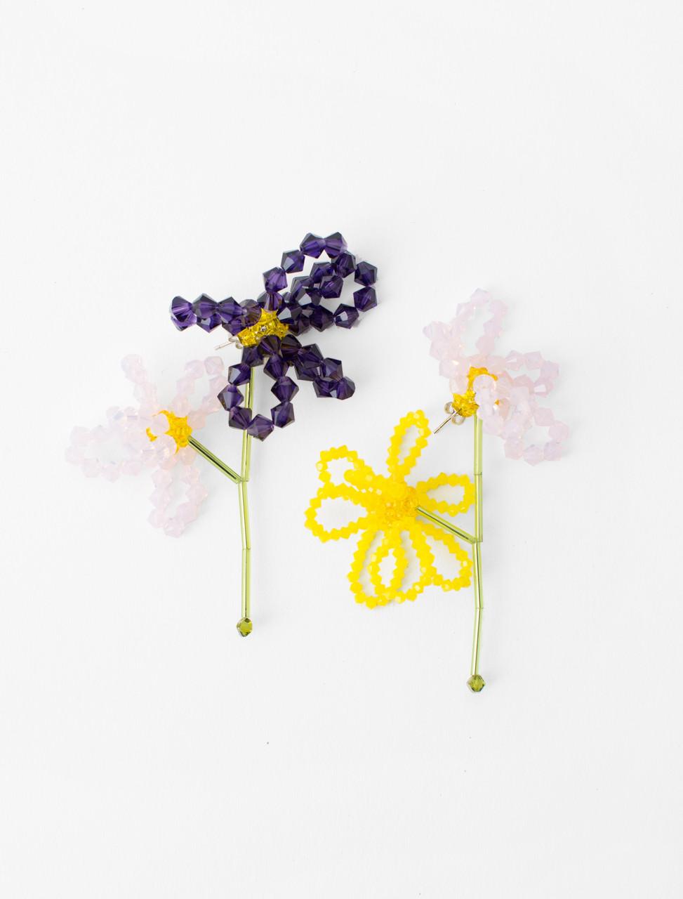 Viola Tricolor Earrings