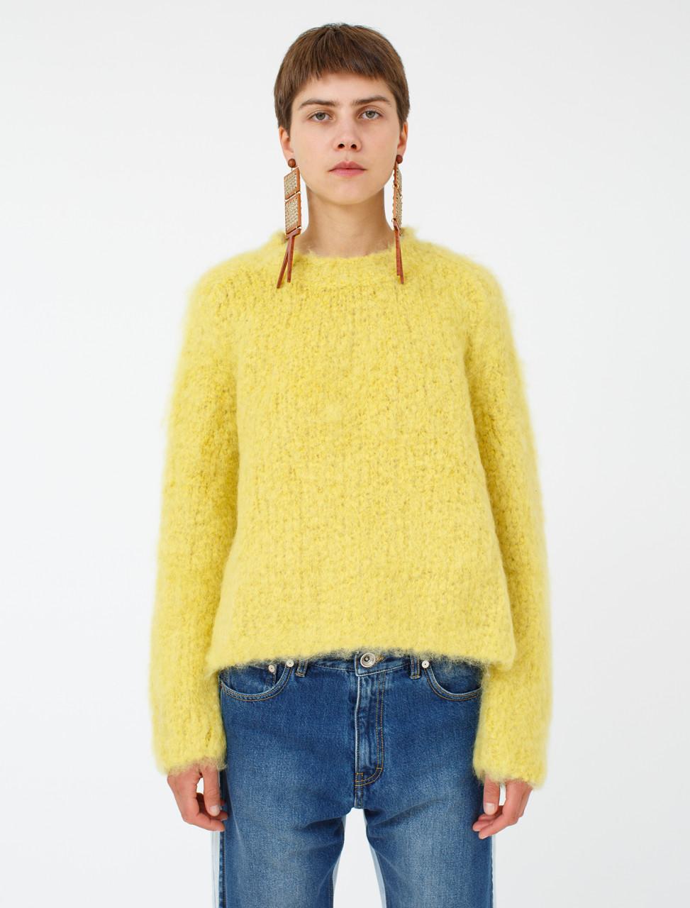 Wool Mohair Sweater in Yellow
