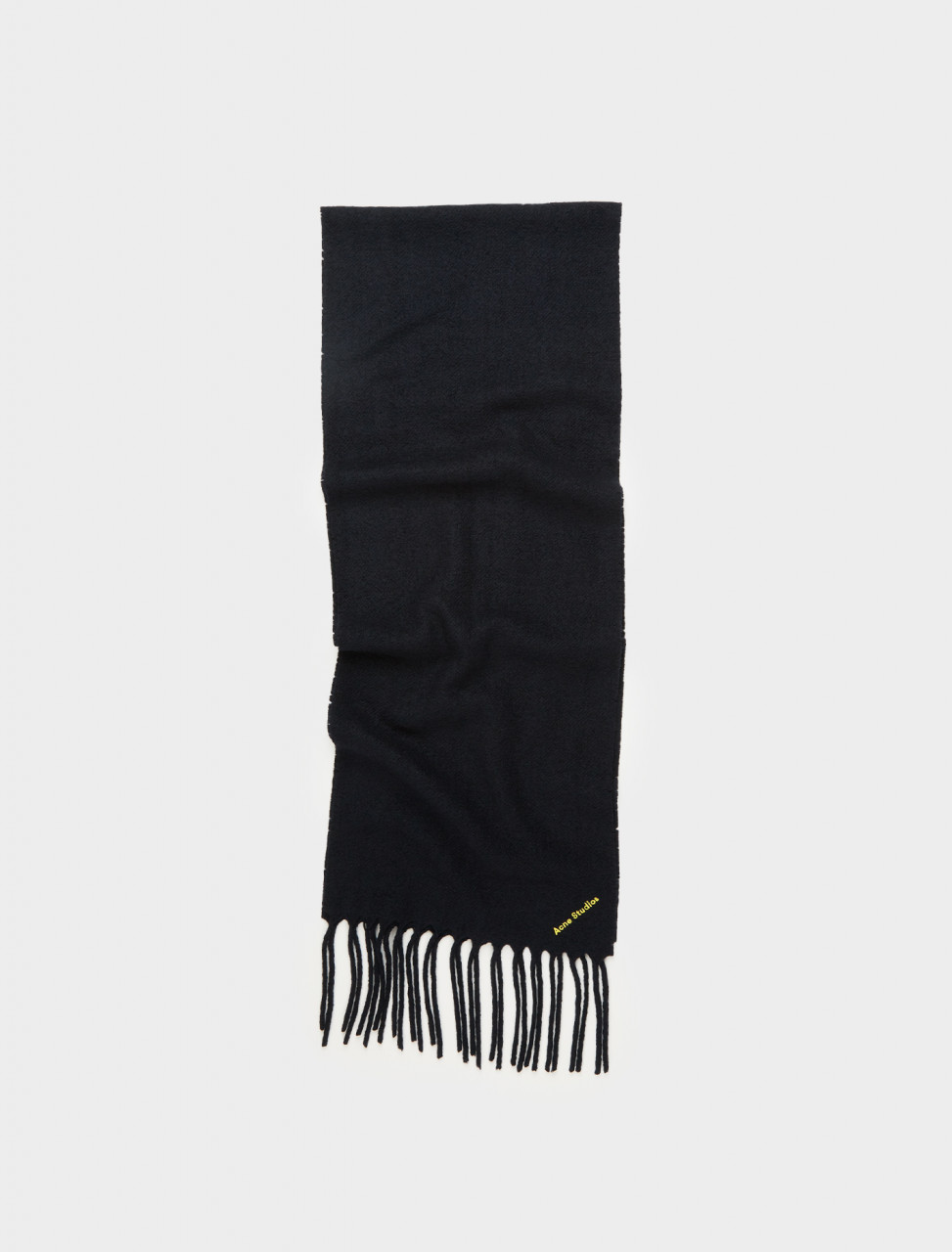 110-CA0025-8850 ACNE STUDIOS BOILED WOOL-BLEND SCARF NAVY BLUE