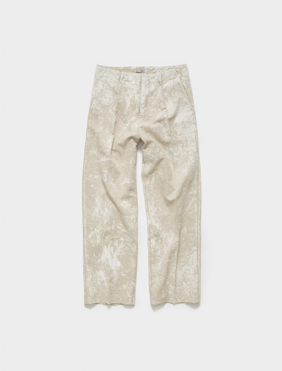 M421BWW OUR LEGACY BORROWED CHINO IN WHITE COATED LINEN