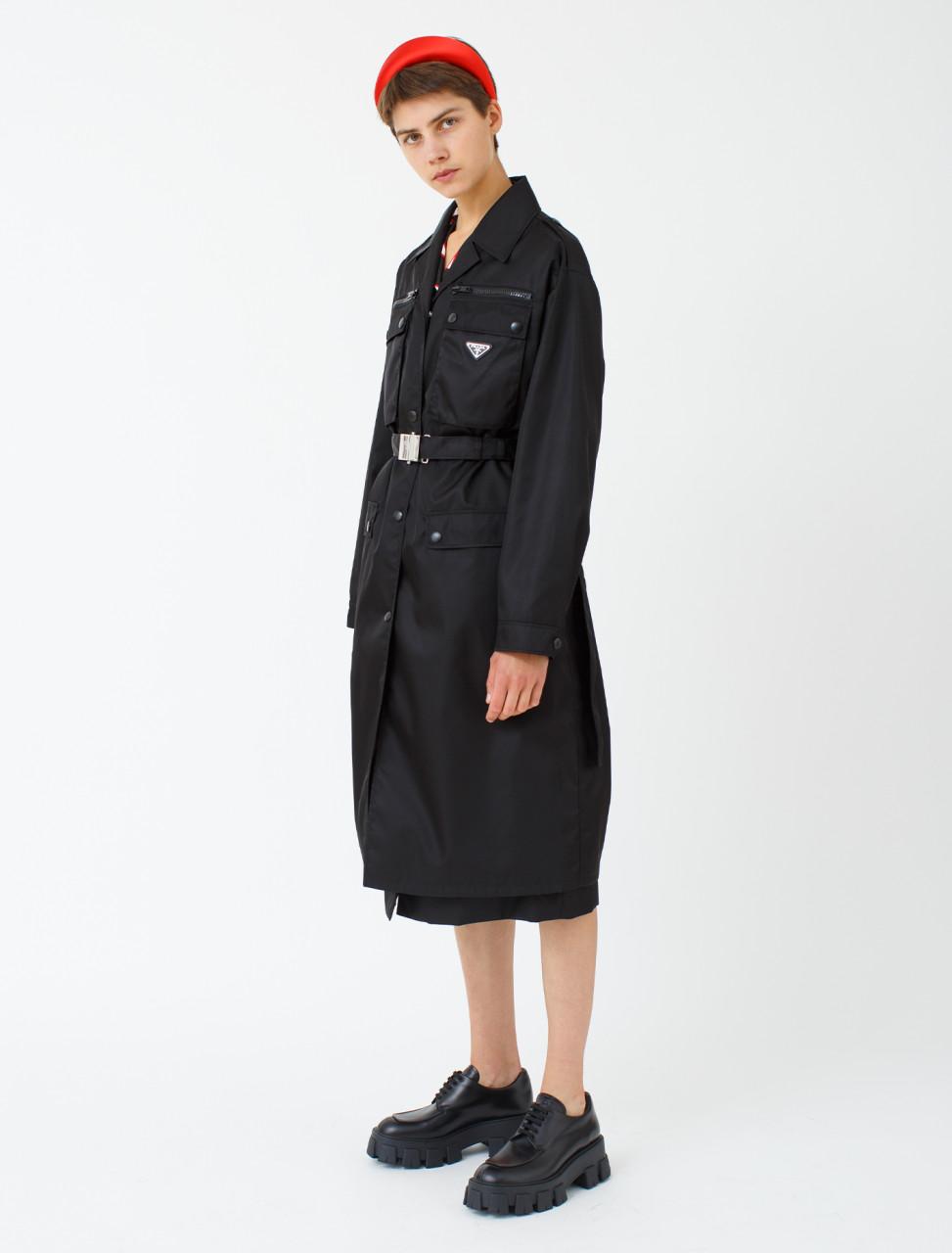 Nylon Gabardine Pocket Raincoat