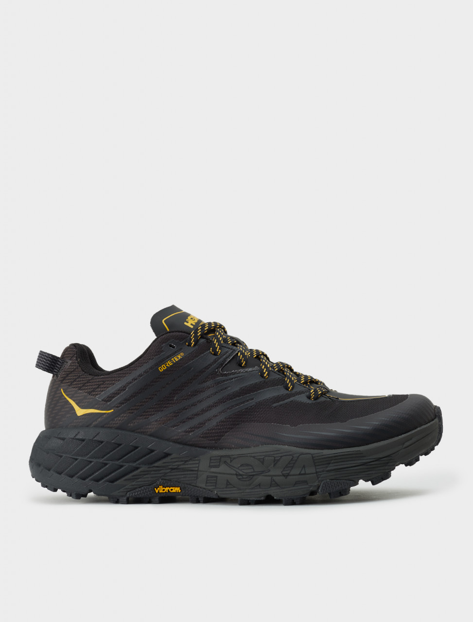 Hoka One One Mens SPEEDGOAT GTX Sneaker in Anthracite/Dark Gull Grey