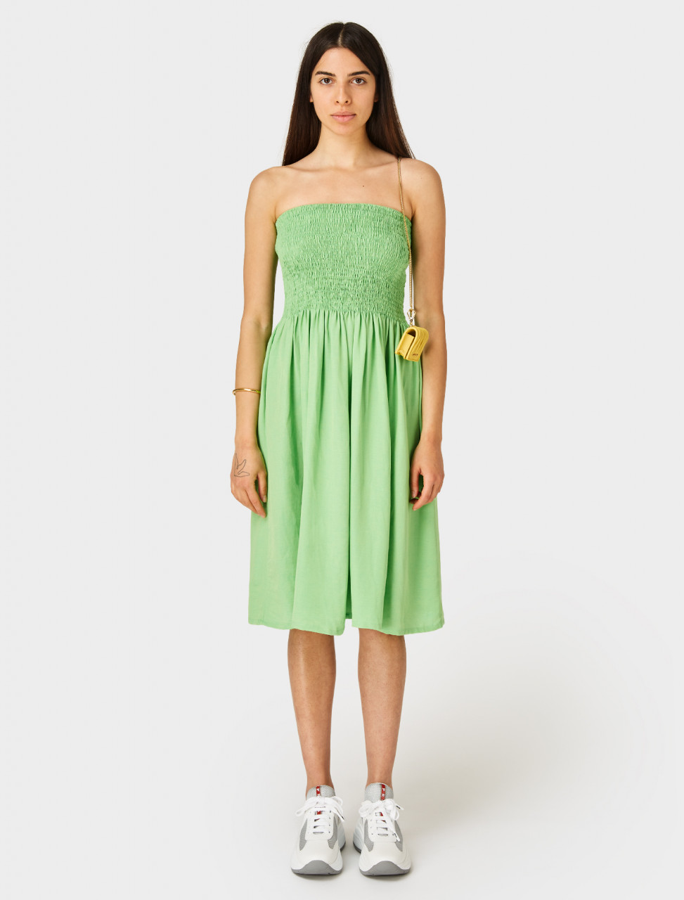 Front of Paloma Wool Montoro Skirt Dress Green Fluro