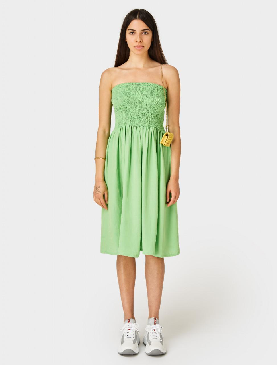 Front of Paloma Wool Montoro Skirt Dress Green Fluro