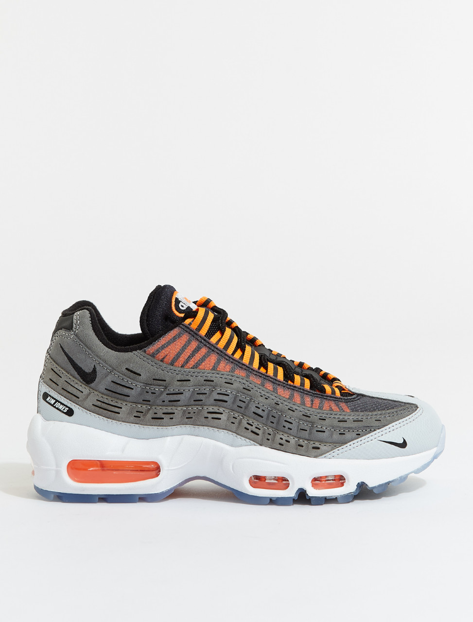 DD1871-001 NIKE AIR MAX 95 KIM JONES BLACK TOTAL ORANGE DARK GREY