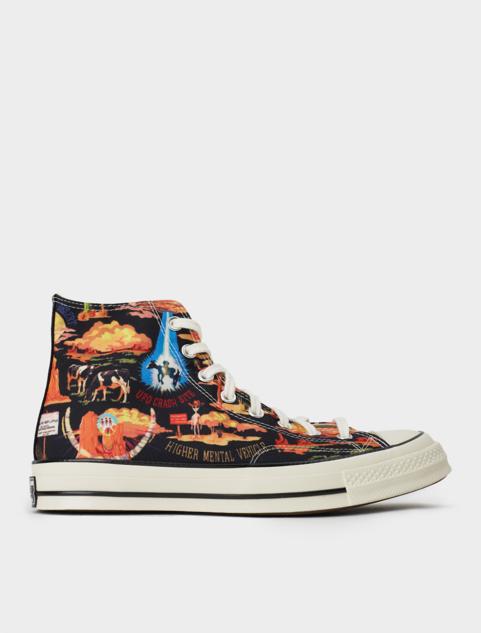 Converse Twisted Resort Chuck 70 High Sneaker in Black Multi Egret