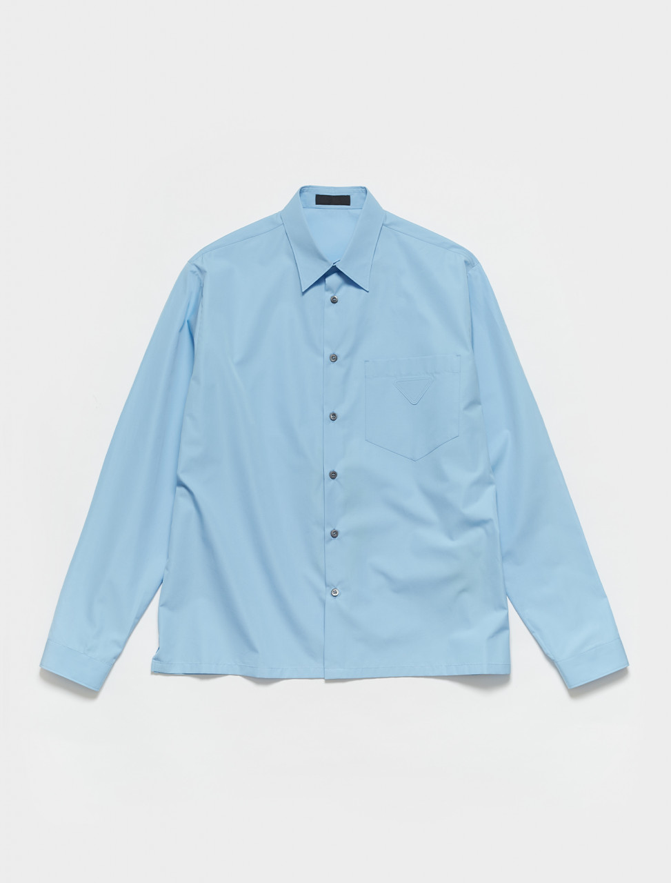 SC533-F0013 PRADA COTTON SHIRT IN AZURE