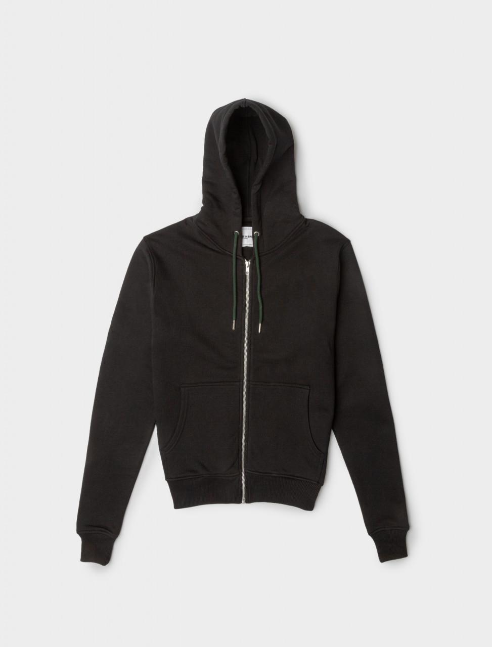 Y Hoodie with Zipper in Black