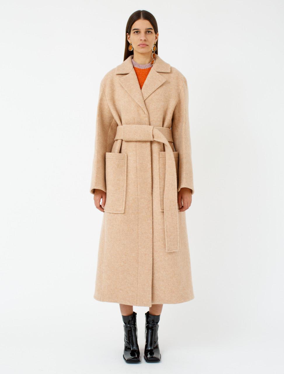 Wool Coat in Beige