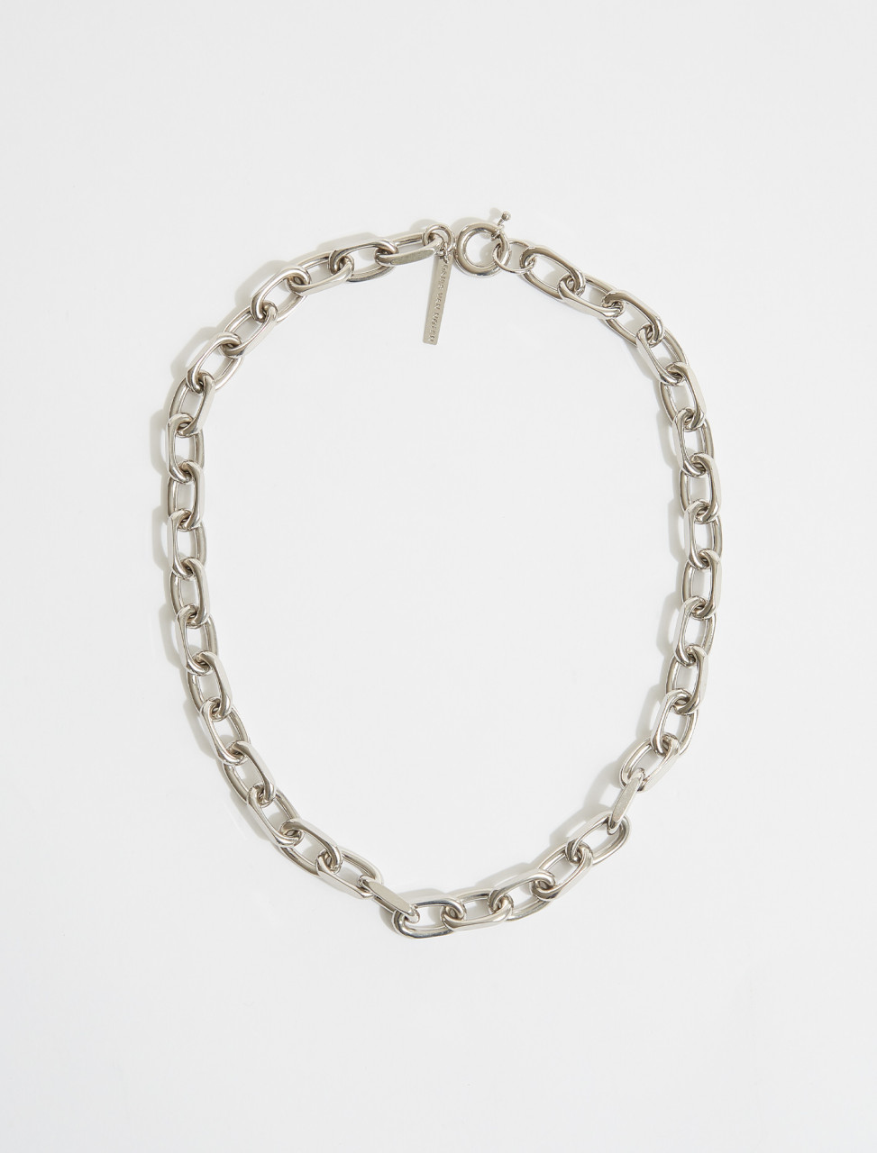 211-29101-050-952 DRIES VAN NOTEN LARGE CHAIN NECKLACE IN SILVER