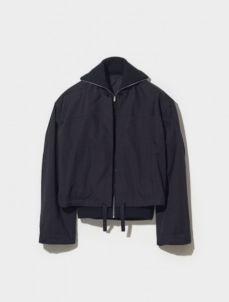 W 213 OW283 LF641 999 LEMAIRE DOUBLE BLOUSON WITH RIBS IN BLACK