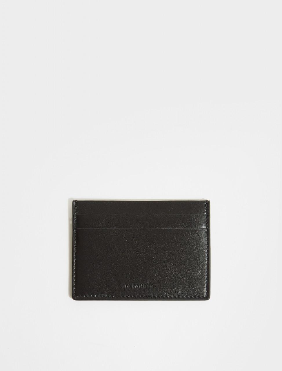 JSMS840058-MSS0008N-001 JIL SANDER CREDIT CARD HOLDER IN BLACK