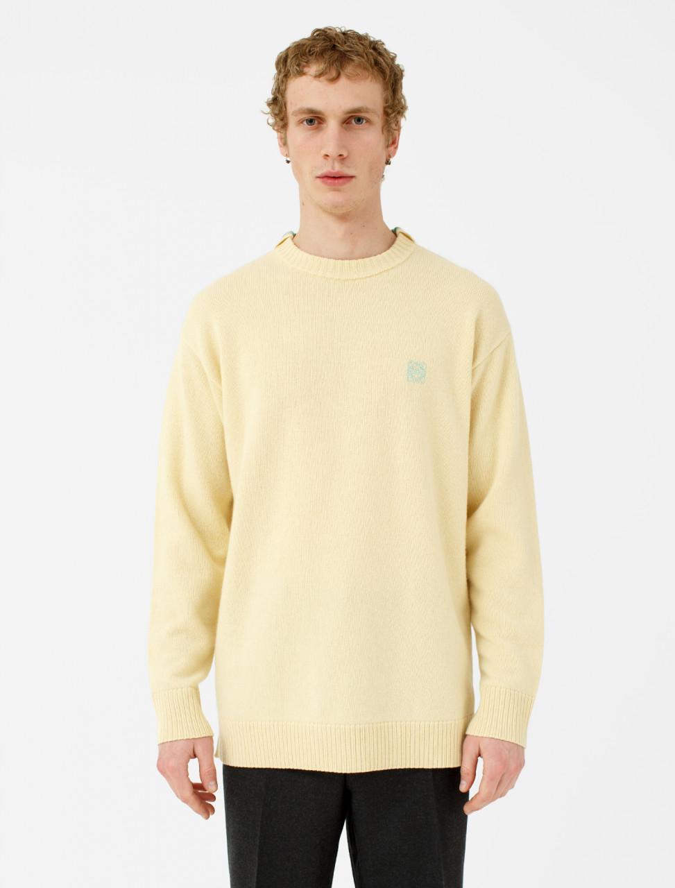 Anagram Sweater in Light Yellow