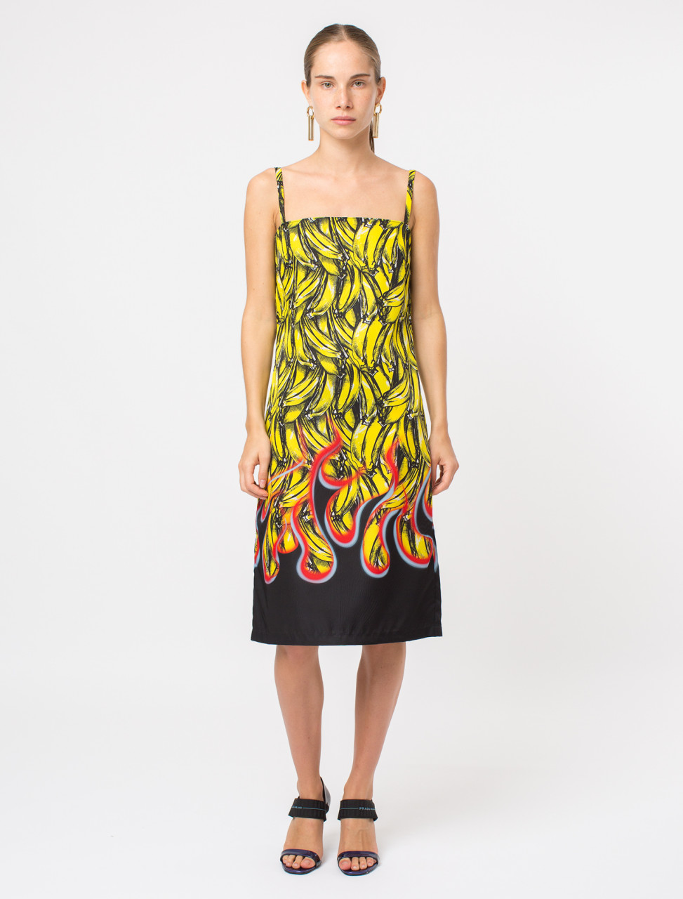 Nylon Banana Flame Print Dress
