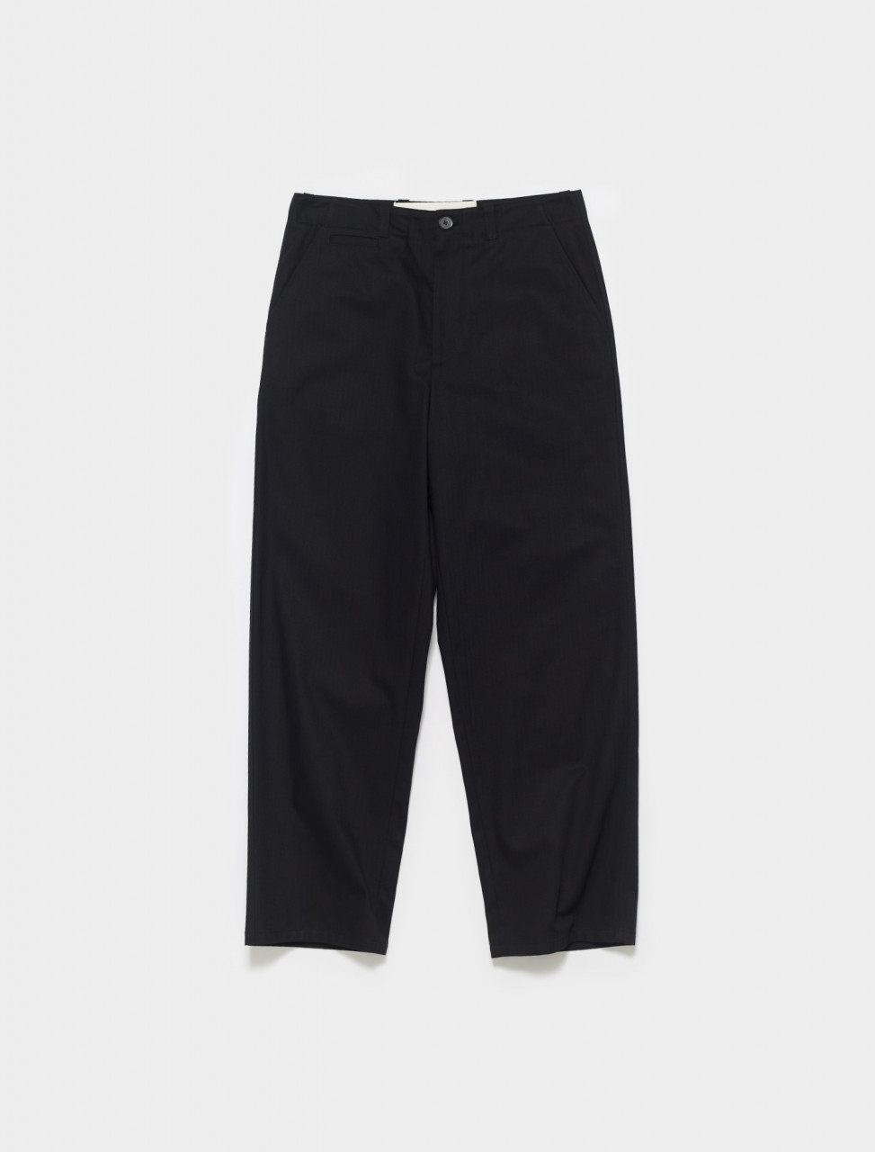 JPUS310305-MS241900-001 JIL SANDER COTTON CHINO TROUSERS IN BLACK