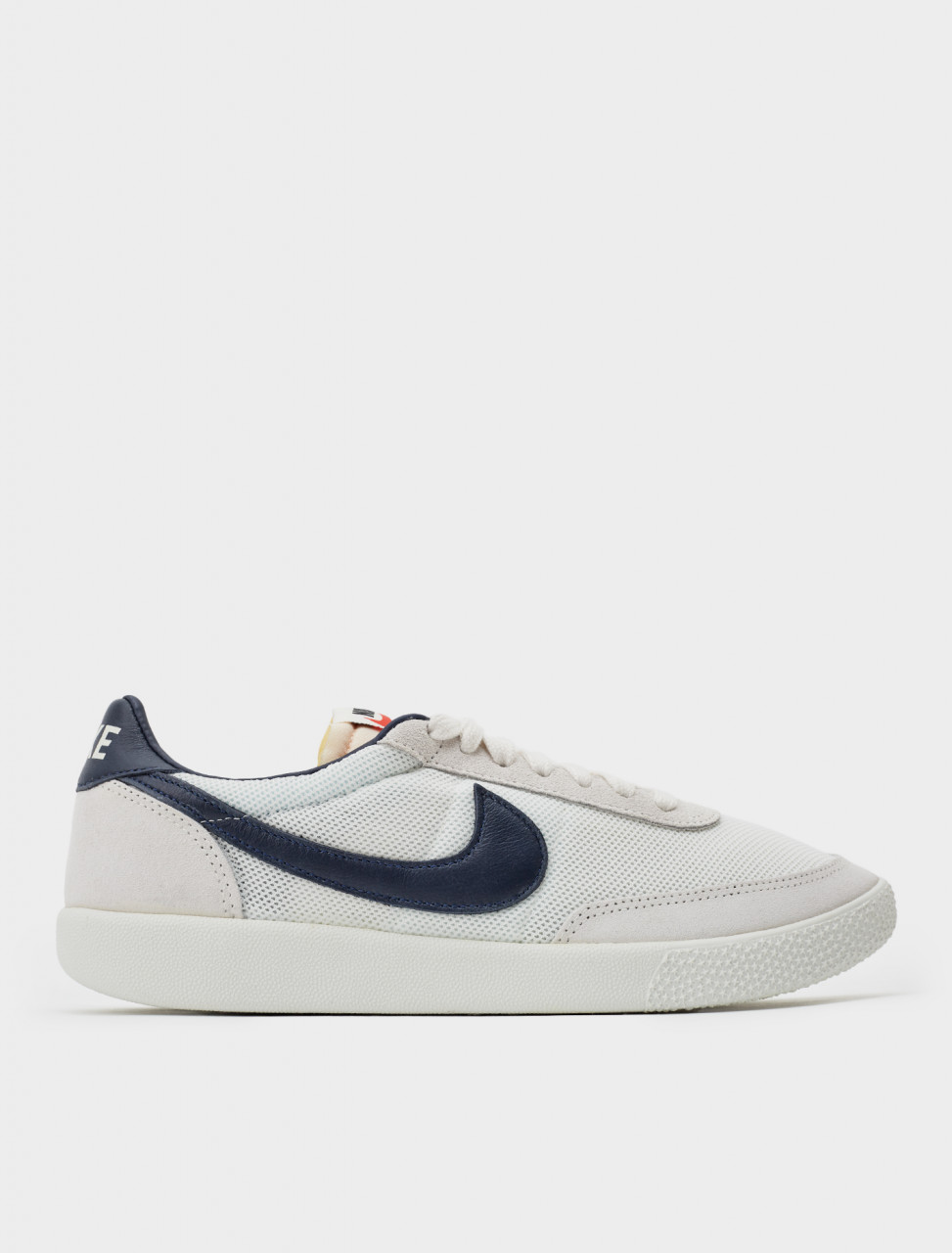 Side view of Killshot OG SP Sneaker in Sail and Midnight Navy