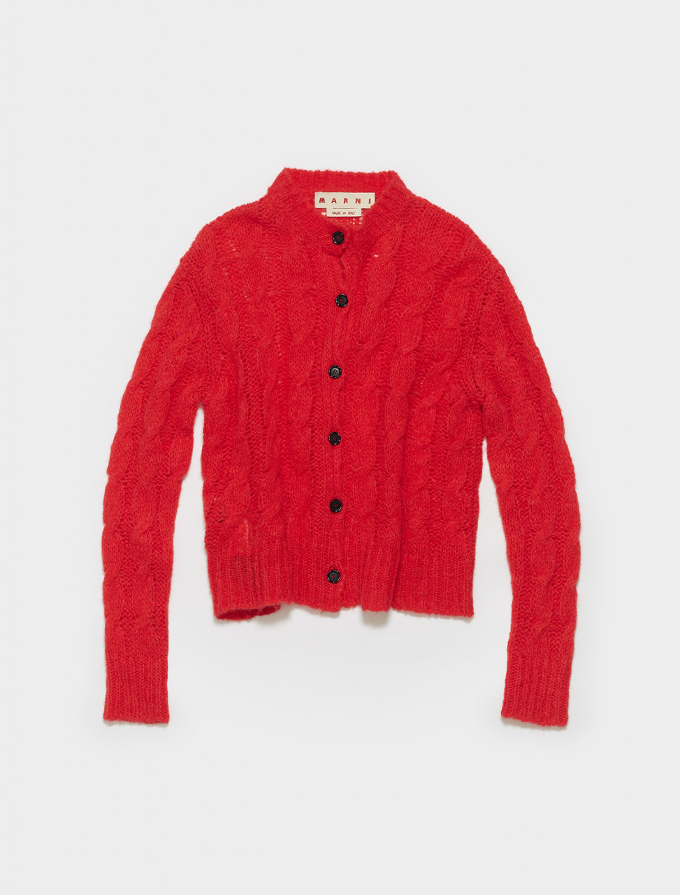 CDMD0174A0-FP113-00R66 MARNI LONG SLEEVE CARDIGAN IN RED