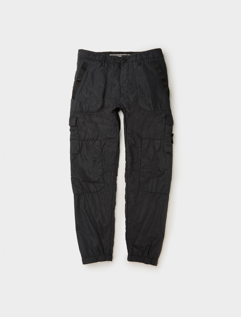 Stone Island Nylon Trouser in Black Front