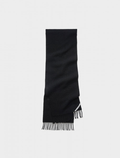 110-CA0083-900 ACNE STUDIOS Pilled Texture Scarf in Black