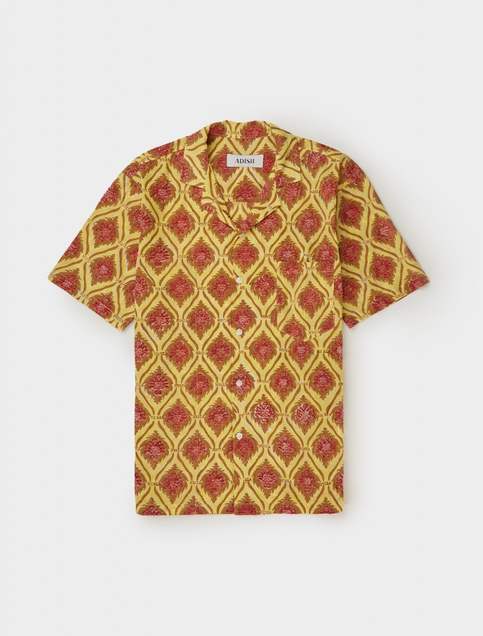Front of Adish Sawsanas Shirt in Yellow and Brown