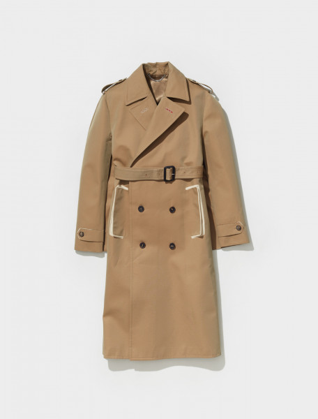 S51AH0173_S53207_124 MAISON MARGIELA TRENCH CAPE IN CAMEL
