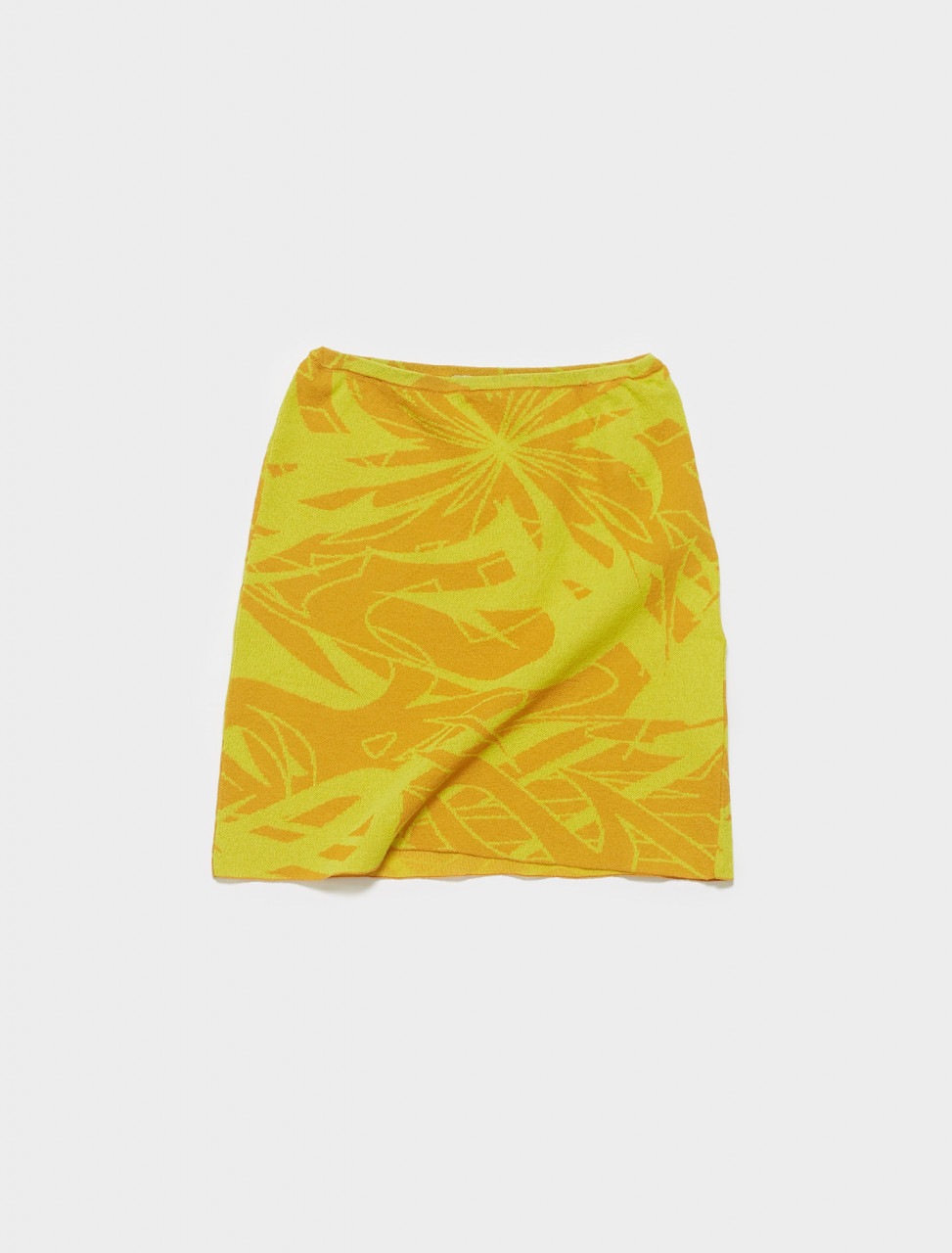 PKM004-109 PALOMA WOOL AERI KNITTED MINI SKIRT IN DARK YELLOW