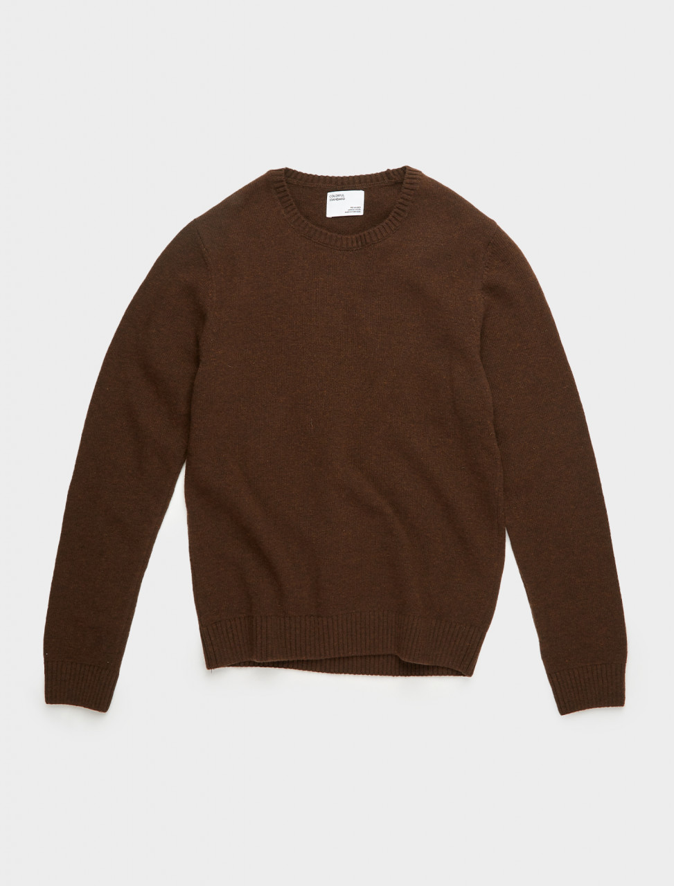 307-CS5083-CB COLORFUL STANDARD MERINO WOOL CREW COFFEE BROWN