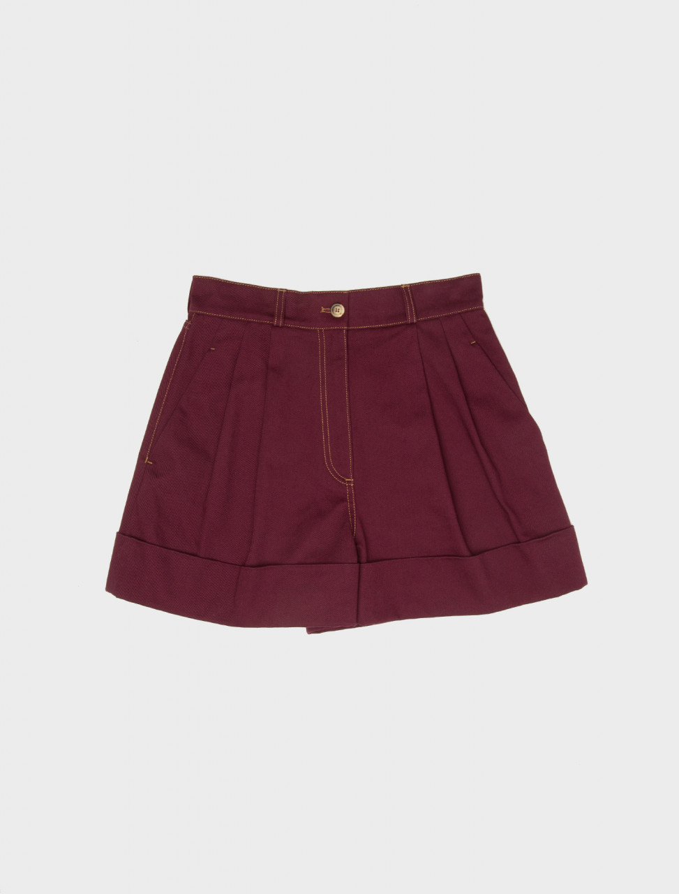 Cotton Drill Shorts in Mauve