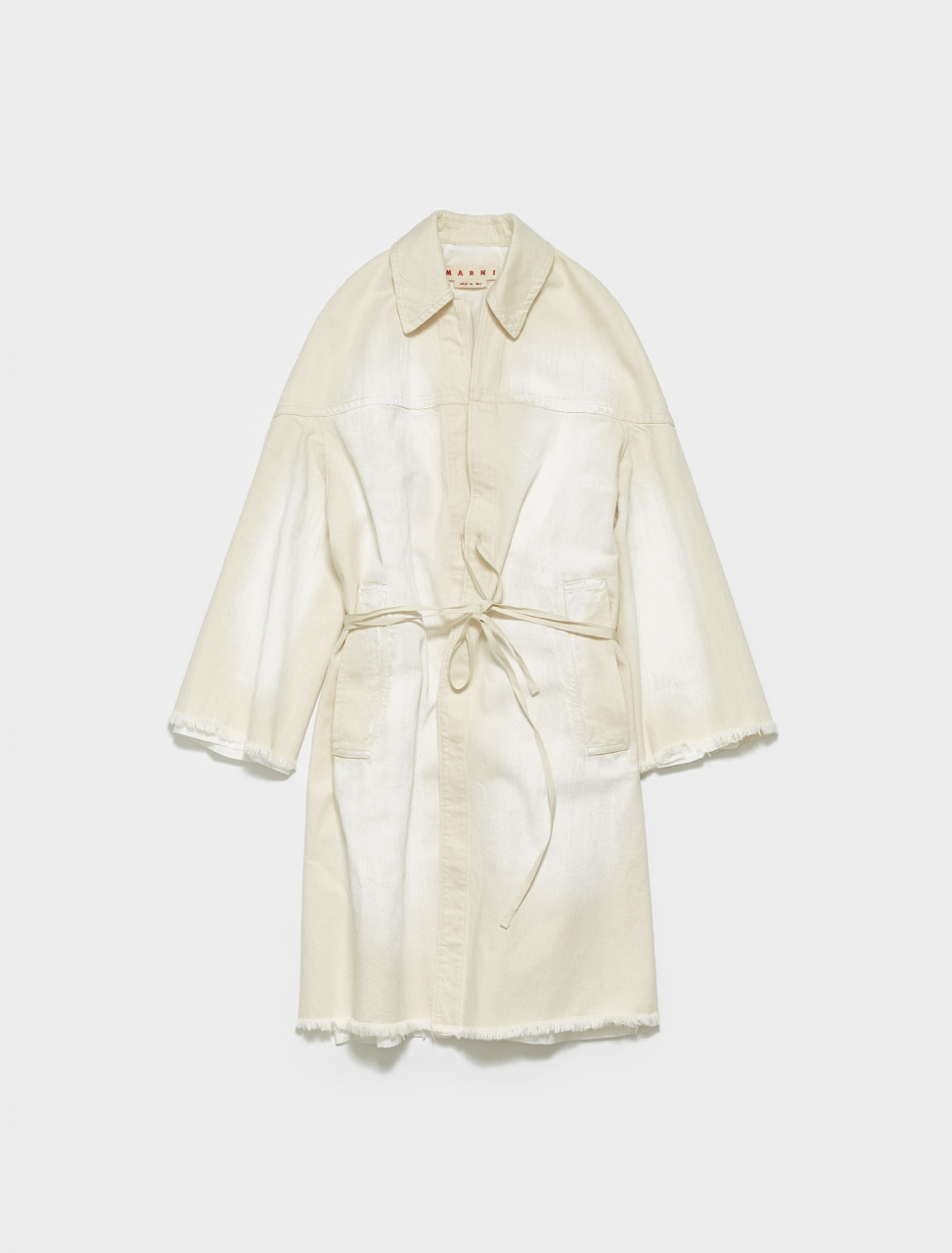 SPJD0181H8-AGW08 MARNI DUSTER COAT IN SNOW