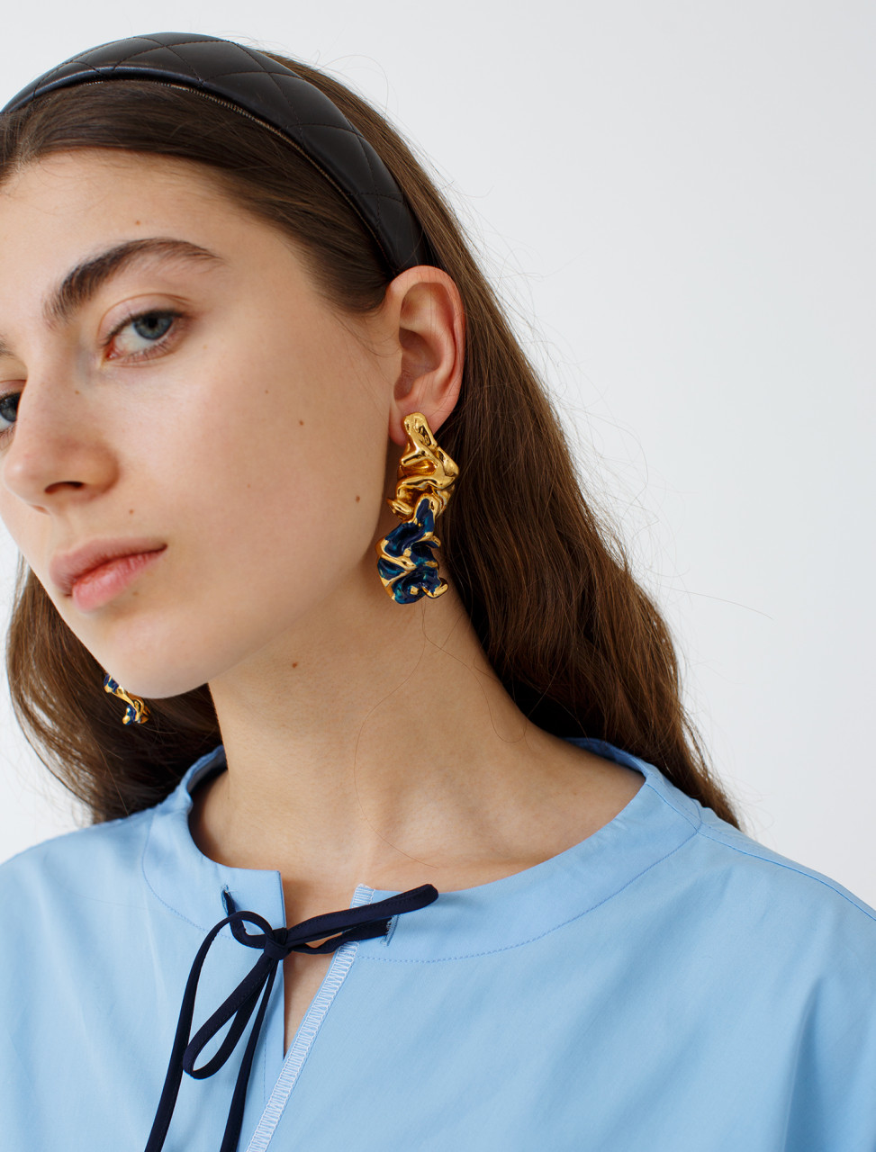 Enamelled Metal Earrings