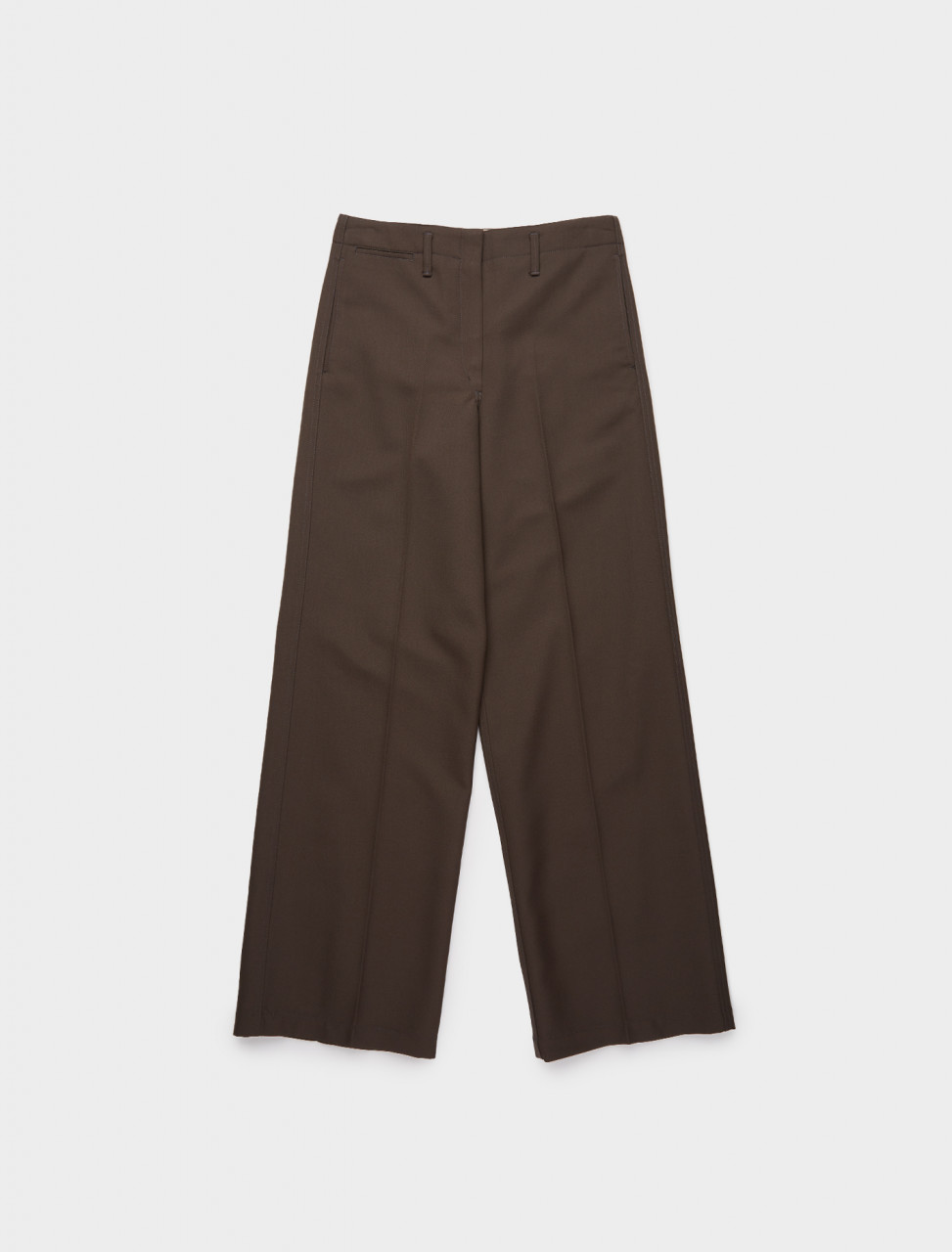 218-W-203-PA287-LF483-487 LEMAIRE STRAIGHT PANTS DARK BROWN