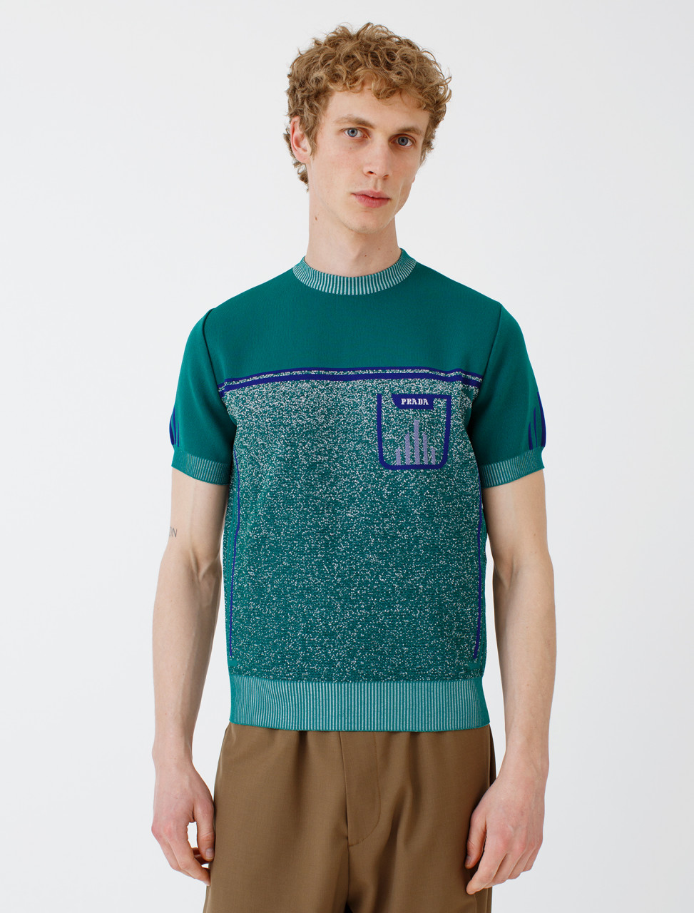 Technical Knit Shortsleeve Sweater