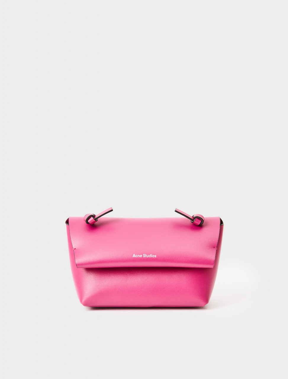 CG0151-ACT ACNE STUDIOS KNOTTED STRAP PURSE FUCHSIA PINK
