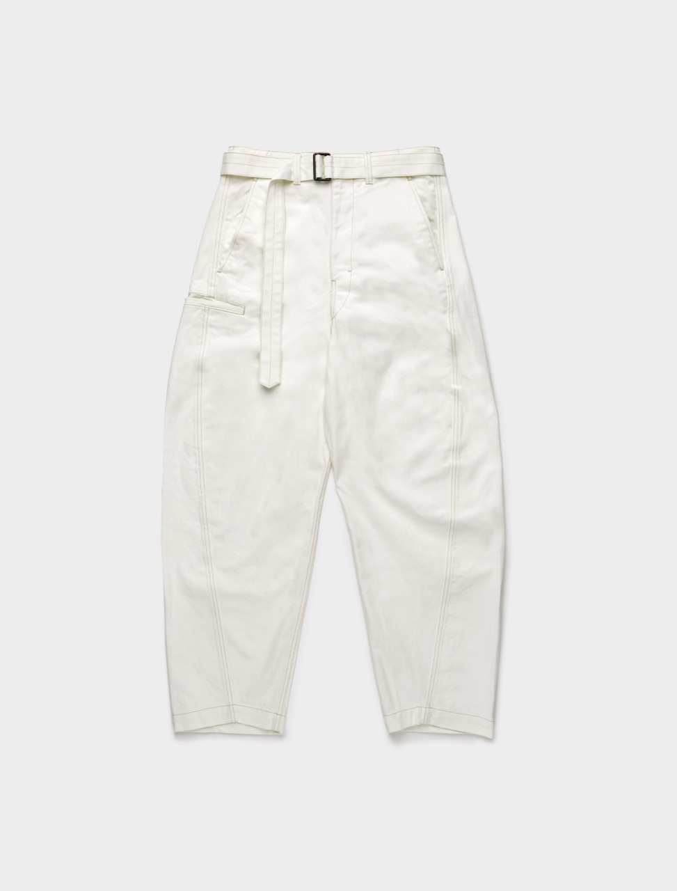 218-M-203-PA137-LD025-001 LEMAIRE TWISTED TROUSERS WHITE