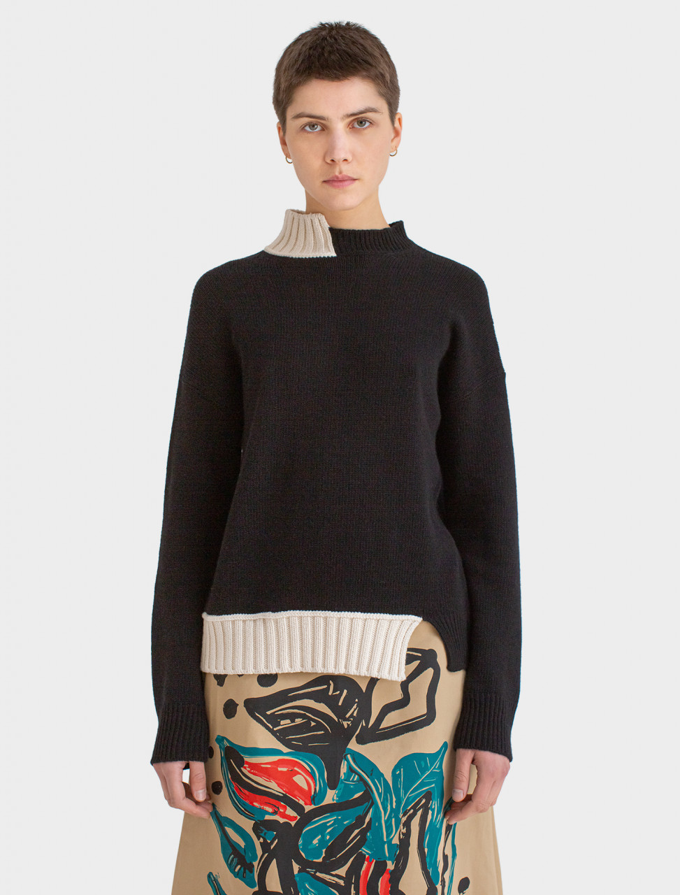 Marni Long Sleeve Turtle Neck Sweater